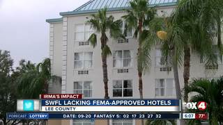 No 'open' FEMA approved hotels in SWFL