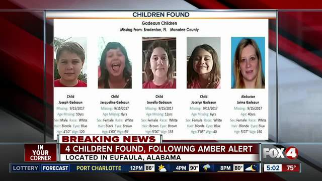 Amber Alert cancelled, missing Bradenton siblings found safe
