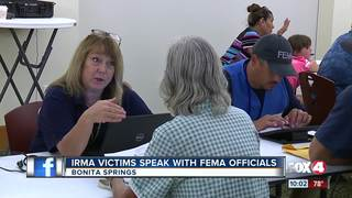 Irma victims speak directly with FEMA oficials