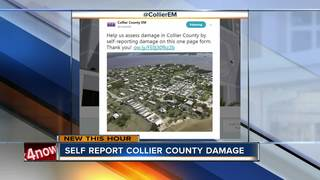 Self report Collier County damage after storm