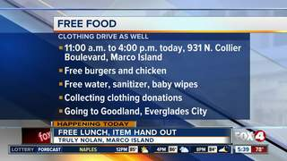 company offering free food for Irma relief