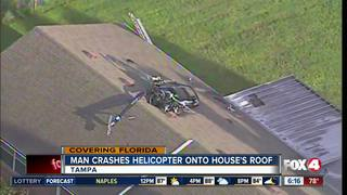 FL man crashes homemade helicopter into house