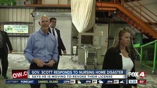 Gov. Scott speaks on nursing home disaster