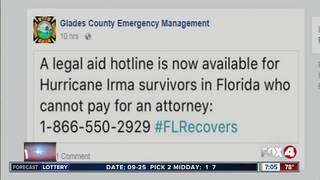 Legal aid hotline for Hurricane Irma survivors