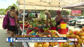 Farmers Market Reopens after Irma