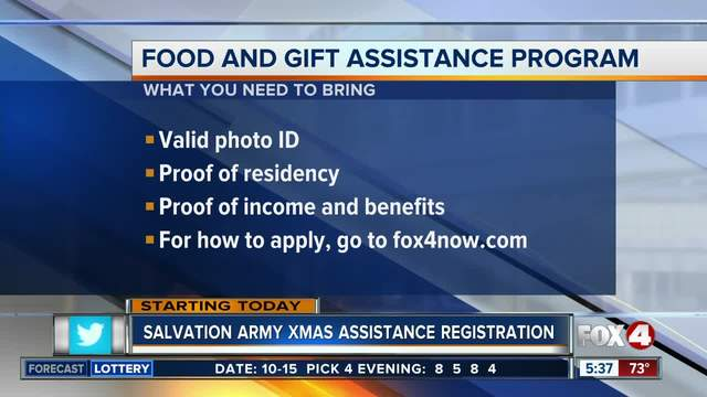 Salvation Army starts Christmas assistance program