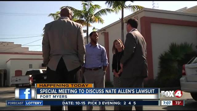 Special meeting to discuss Nate Allen-s lawsuit in Fort Myers