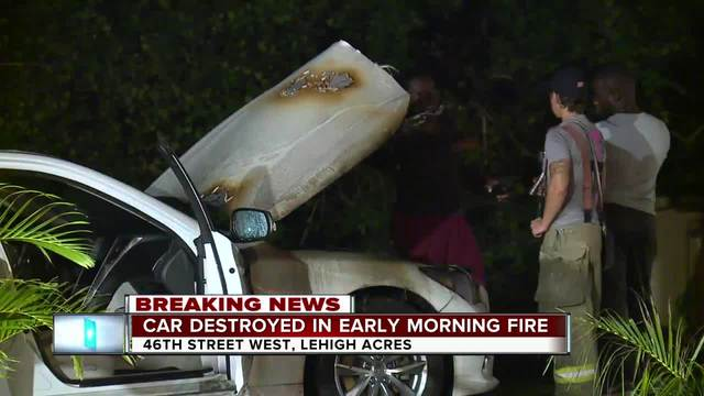 Lehigh Acres fire department investigating car fire