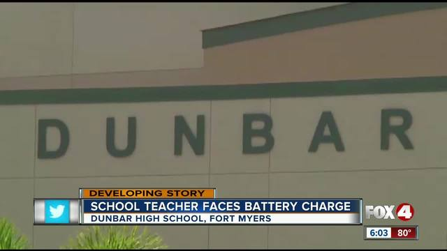 LCSD teacher charged with battery