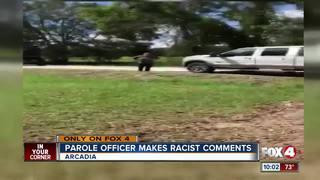 Probation officer yells racial slur on camera