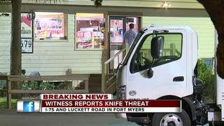Possible knife threat reported at truck stop