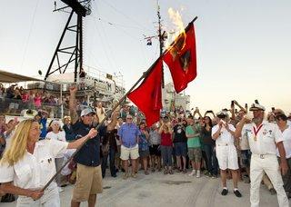 Florida Keys residents burn hurricane flags
