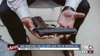 Man searching for gun given to him for wedding