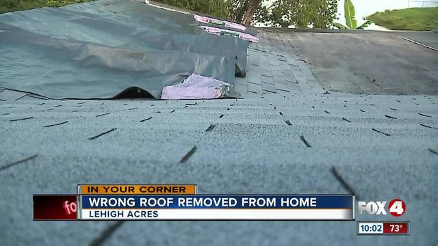Roofers Remove Roof Off The Wrong House In Florida