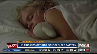 Get kids back into a school sleep pattern