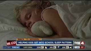 Get kids back into a school sleep pattern