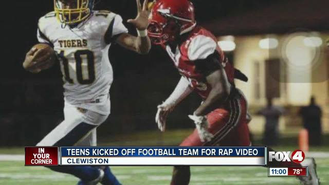 Clewiston football players kicked off team due to music video