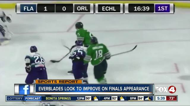 Poster Everblades Prepare For Home Opener On Yellow Ice Fox