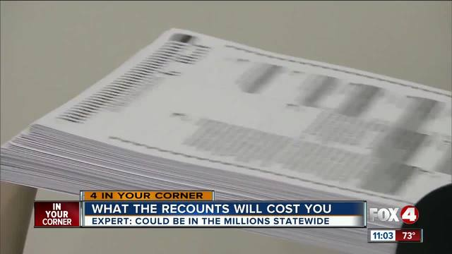 How much did the Florida recounts cost you