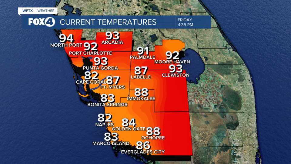 Current Temp SW Florida