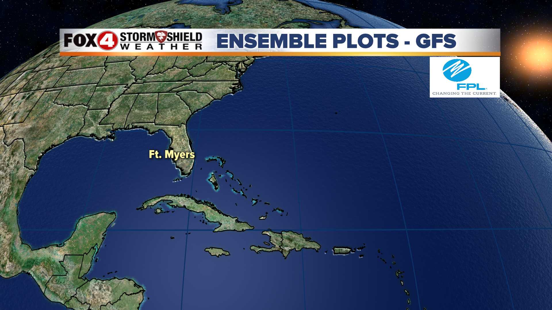 Spaghetti Plots GFS Ensemble for SW Florida
