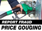Report fraud, price gouging