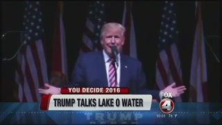 Trump discusses Lake Okeechobee at rally in Fla.