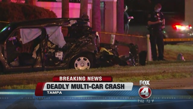 car crash tampa	  Florida Highway Patrol investgating deadly multi-car crash in Tampa ...