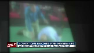 Golf club worker saves golfer after heart attack