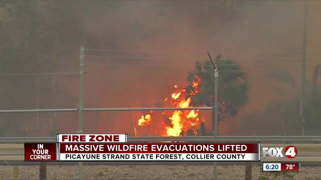 Picayune Strand Fire Now 7 500 Acres Near Naples Fox 4