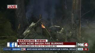 Crews continue to battle fires in Collier Co.