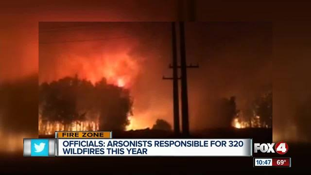 Officials Say Arsonists Responsible For 320 Wildfires in 2017