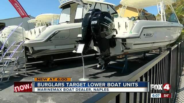 Boat Burglars Target Marine Max In Naples For Motor Parts