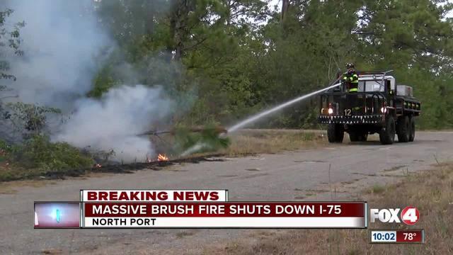 Massive fire shuts down I-75