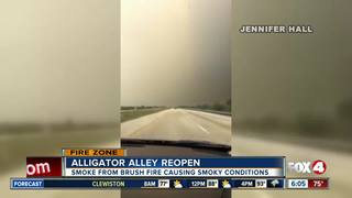 Alligator Alley reopens after fire