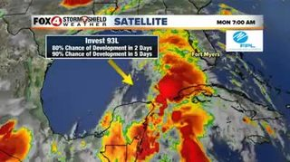 Invest 93L entering the southern Gulf