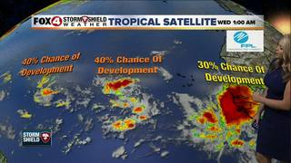 Tropics heating up with 3 waves in the Atlantic