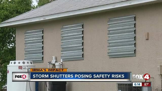 Why Hurricane Shutters Are A Fire Hazard Fox 4 Now Wftx