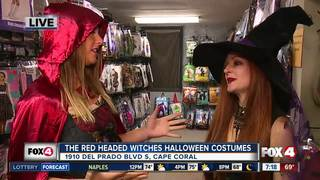 Halloween costume preview at Red Headed Witches