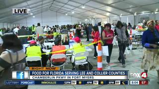 Food for Florida relief site opens in Fort Myers
