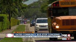 Lee County buses not allowed in gated community