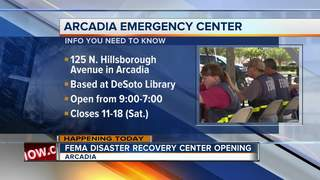 Disaster Recovery Center opens in Arcadia