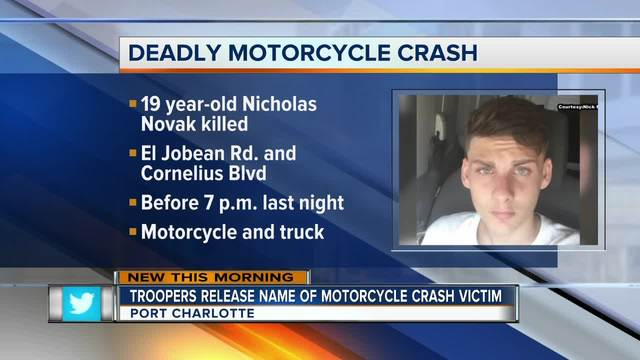 Port Charlotte Fl News >> Motorcyclist Dies In Port Charlotte Crash Tuesday