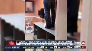 Punta Gorda restaurant bathroom destroyed