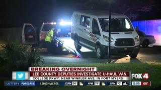 Lee County deputies investigate U-Haul van