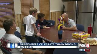 Cape firefighters celebrate Thanksgiving at work