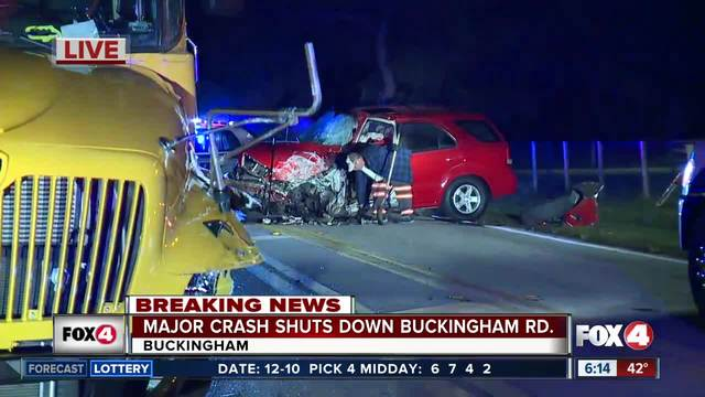 Drivers injured in school bus collision with car