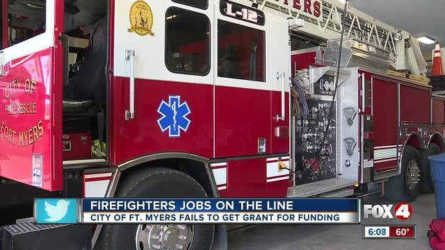 fort myers firefighters possible layoff