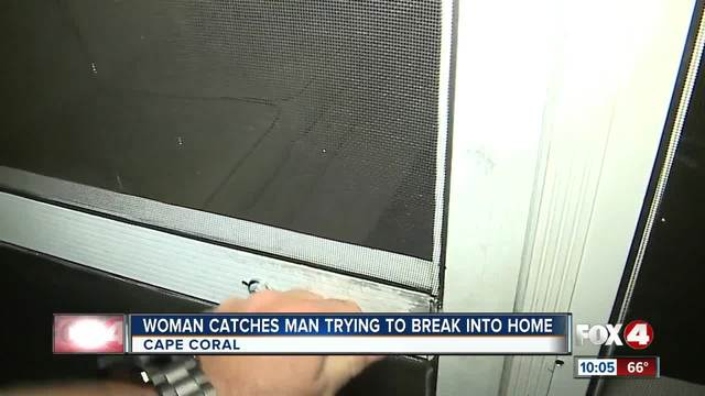 Woman scares of would-be intruder in Cape Coral