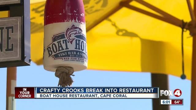 Crafty crook breaks into Cape restaurant